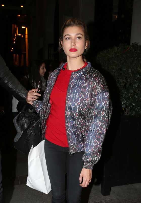 Hailey Baldwin - Out in Paris, October 2015