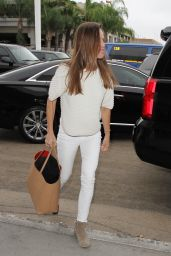Hilary Swank Airport Style - at LAX in Los Angeles, October 2015