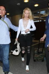 Iggy Azalea - Departing on a Flight at LAX Airport in LA, October 2015