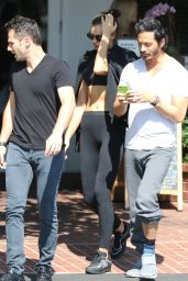 Irina Shayk - Having Lunch at Fred Segal in West Hollywood, October 2015