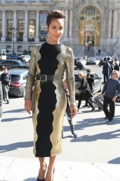 Jada Pinkett Smith Arrives at Guy Laroche Fashion Show 2016 in Paris