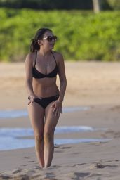 Janel Parrish in a Bikini at a Beach in Hawaii, October 2015