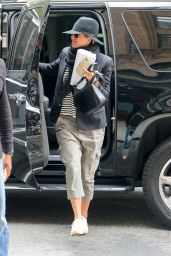 Jennifer Aniston Casual Style - at Her Hotel in NYC, October 2015