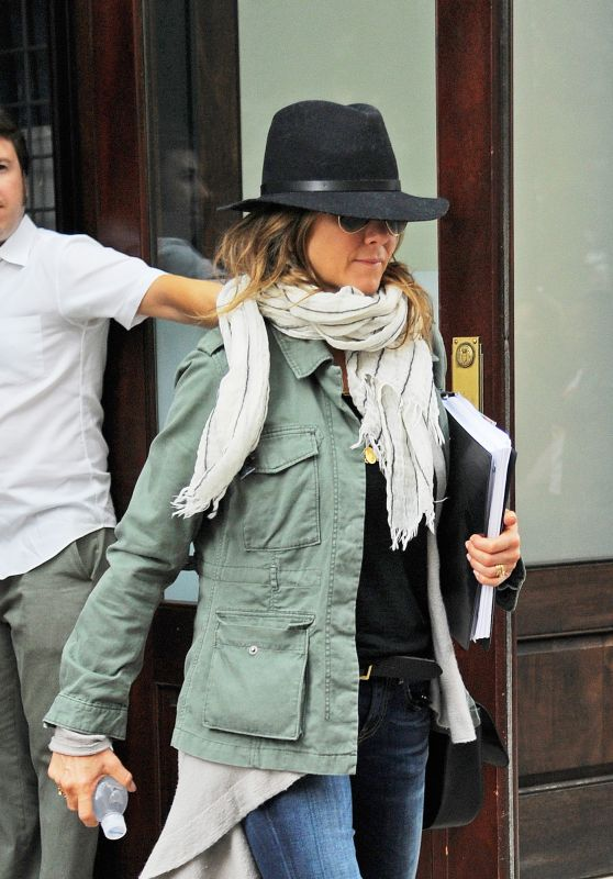 Jennifer Aniston - Leaving Her Hotel in New York City, October 2015