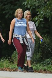 Jennifer Lawrence - Out Walking Her Dog in Atlanta, October 2015