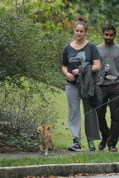 Jennifer Lawrence - Out Walking Her Dog in Atlanta, October 2015