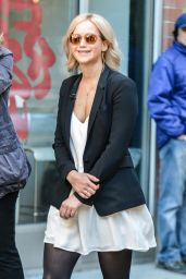 Jennifer Lawrence - Taping an Interview with Diane Sawyer in NYC, October 2015