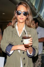 Jessica Alba at LAX Airport, October 2015