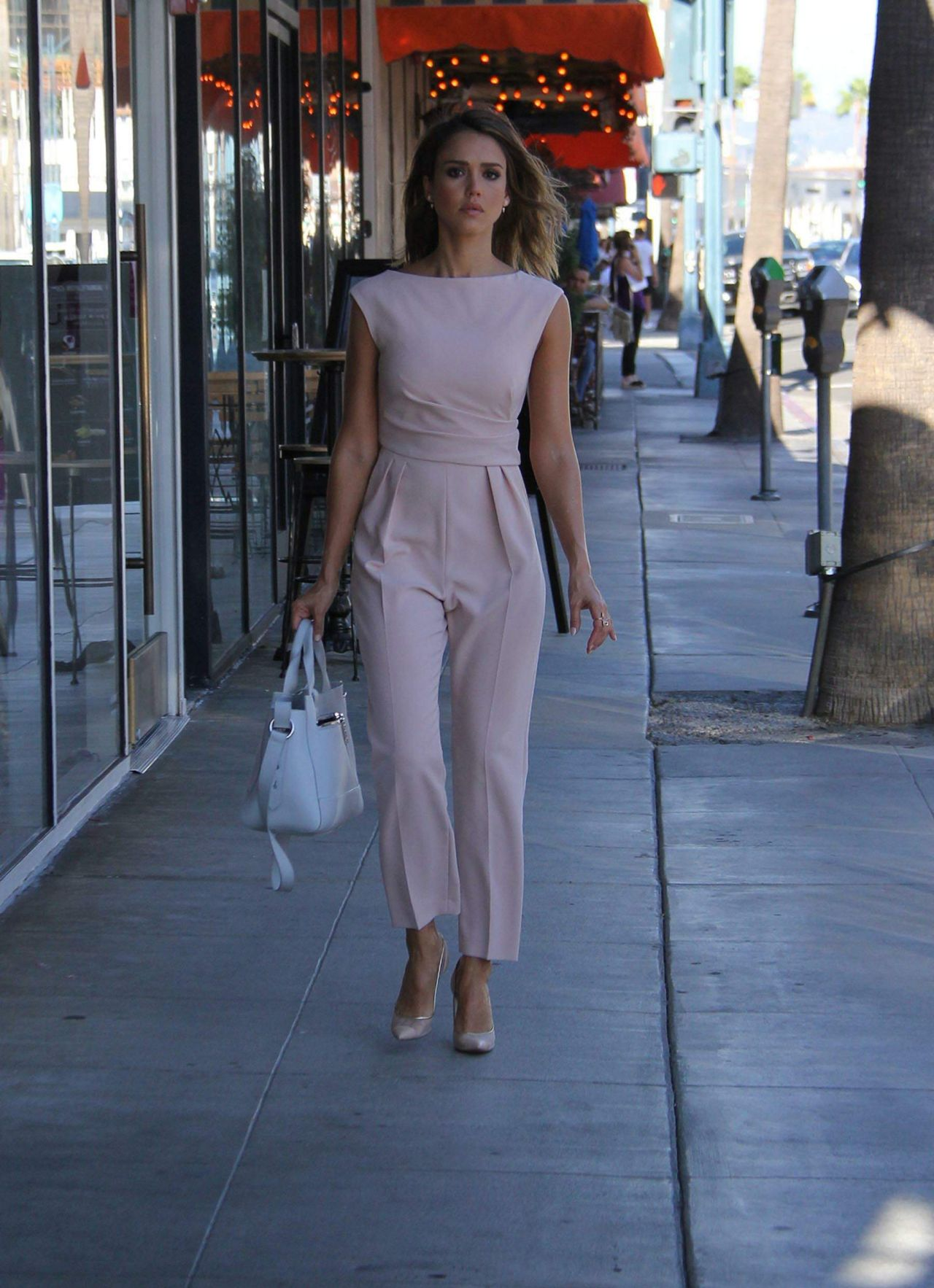 Jessica Alba Street Fashion Out In Beverly Hills October 2015