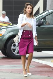 Jessica Alba Style - Out in Los Angeles, October 2015