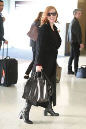 Jessica Chastain at JFK Airport, October 2015