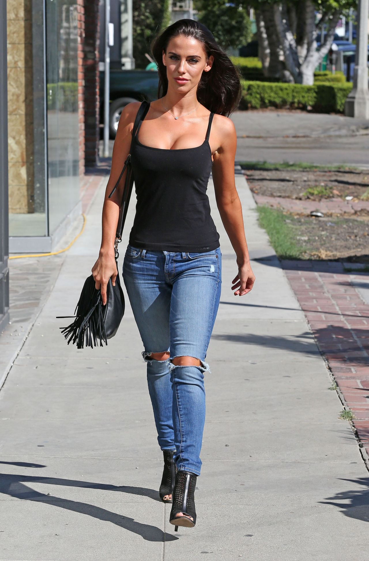 Jessica Lowndes Booty In Jeans - Out In Los Angeles -7333