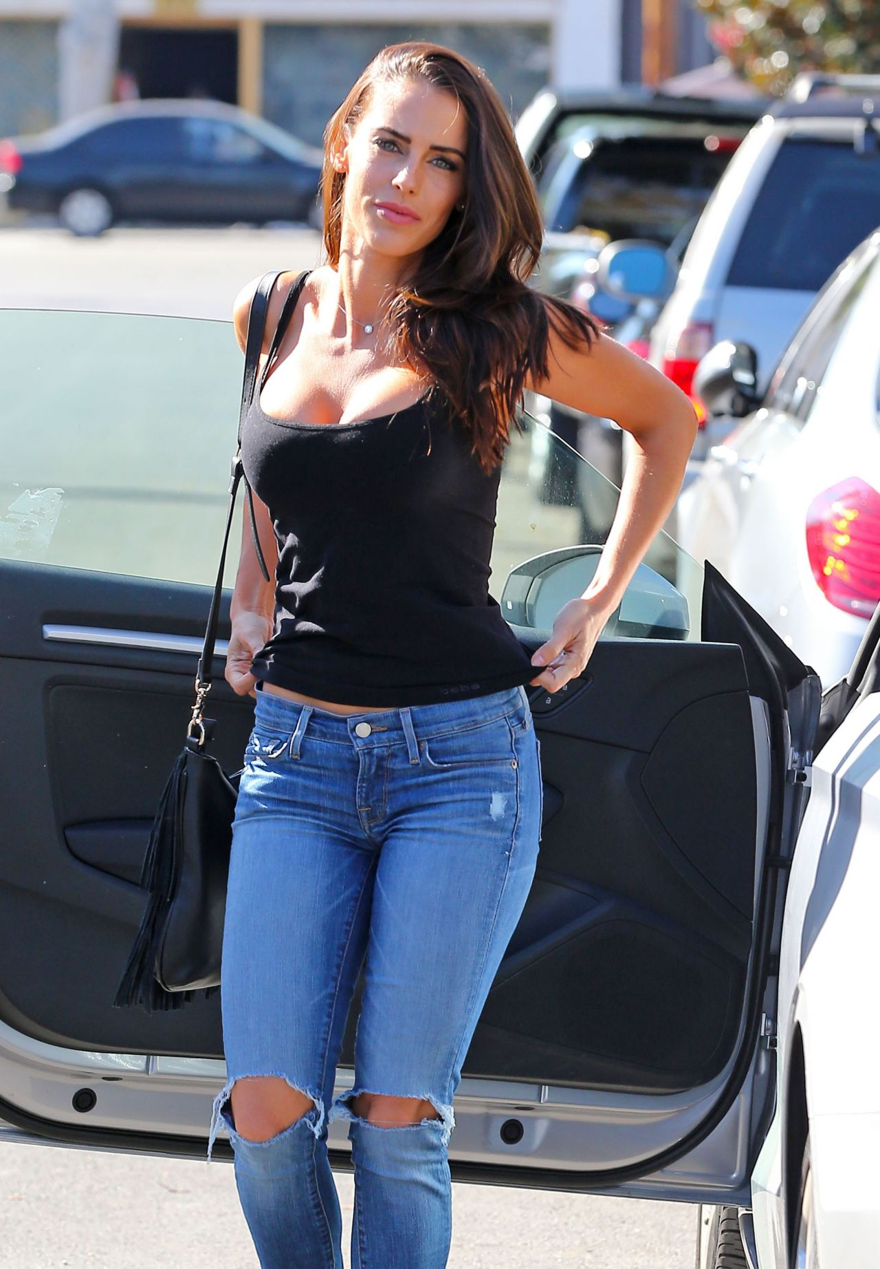 Jessica Lowndes Booty in jeans - Out in Los Angeles ...