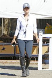 Kaley Cuoco - Flintridge Riding Club in Los Angeles, October 2015