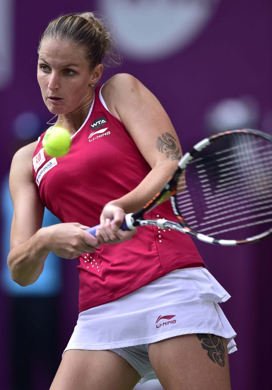 Karolina Pliskova - 2015 Tianjin Open in China - Quarter-Final