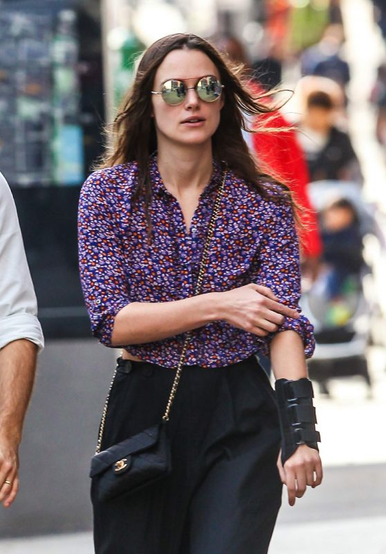 Keira Knightley Street Style - Out in New York City, October 2015