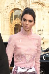 Kendall Jenner - Arriving at Shiatz Chen Fashion Show in Paris, October 2015