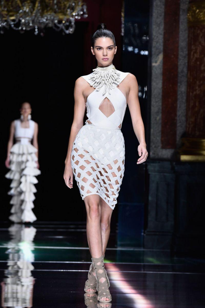 Kendall Jenner Balmain Show At Paris Fashion Week