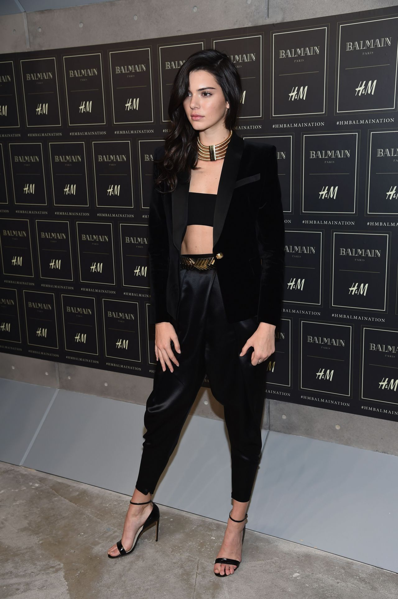 kendall jenner balmain x h m collection launch in new york city. Black Bedroom Furniture Sets. Home Design Ideas