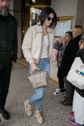 Kendall Jenner Casual Style - Going to Lunch in Paris, October 2015