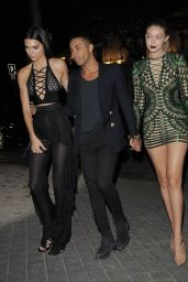 Kendall Jenner & Gigi Hadid - at The Reserve Restaurant in Paris, September 2015