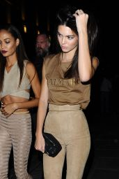 Kendall Jenner, Lily Donaldson & Joan Smalls - Leaving Costes Bar in Paris, October 2015