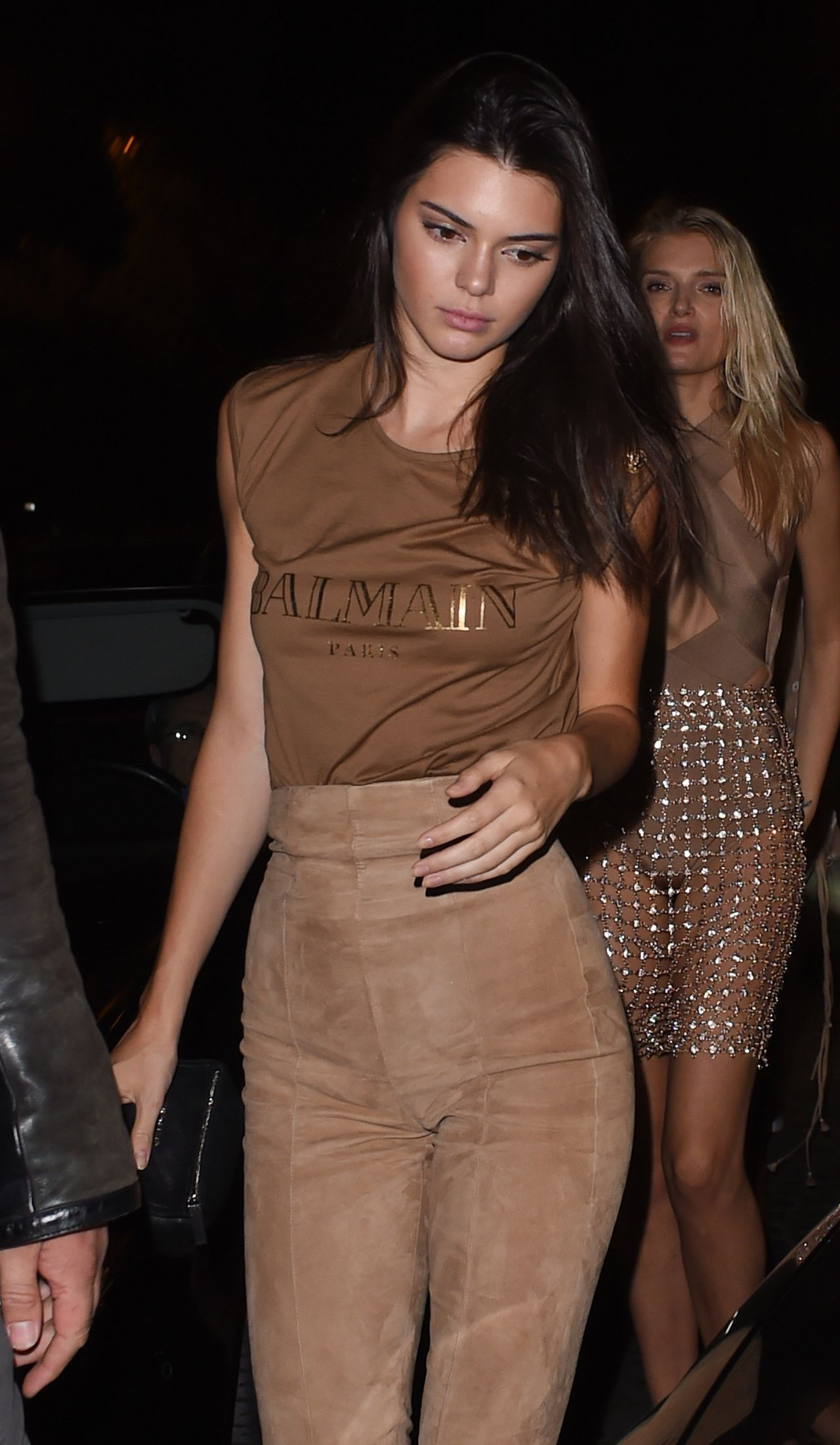 Kendall Jenner Night Out Style - at Le Six Seven in Paris, October 2015