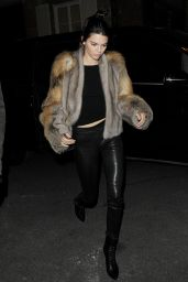 Kendall Jenner Night Out Style - Kinugawa Restaurant in Paris, October 2015