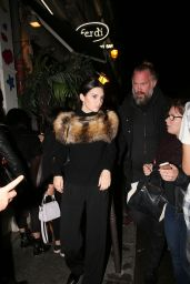 Kendall Jenner Night Out Style - Leaving a Restaurant in Paris, October 2015