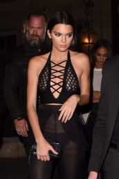 Kendall Jenner Night Out Style - Reserve Restaurant in Paris, September 2015
