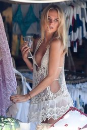 Kimberley Garner in White Bikini - St Tropez, October 2015