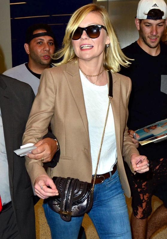 Kirsten Dunst at LAX Airport, October 2015