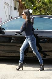 Kourtney Kardashian Booty in Jeans - Studio in Van Nuys, October 2015