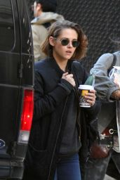 Kristen Stewart - Arriving On the Set of the New Woody Allen Movie in NYC