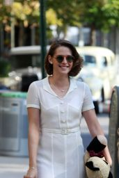 Kristen Stewart - on the Set of a Woody Allen film in NYC, October 2015