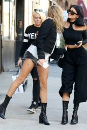 Kylie Jenner & Hailey Baldwin - Ou in New York City, October 2015