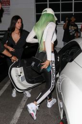 Kylie Jenner Hot in Tights - at a Studio in Los Angeles, October 2015