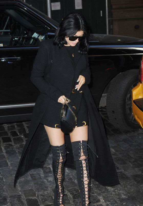 Kylie Jenner Style - Out and about in Soho, NYC, October 2015