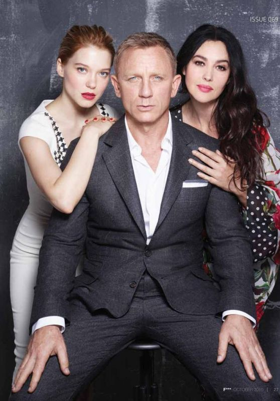 Léa Seydoux, Monica Bellucci, Daniel Craig and Naomie Harris - F*** Magazine October 2015