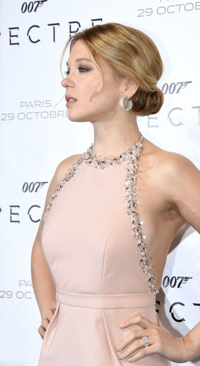 Lea Seydoux In Elle Magazine France February 2014 Issue: 'Spectre' Premiere At Grand Rex Cinema In Paris