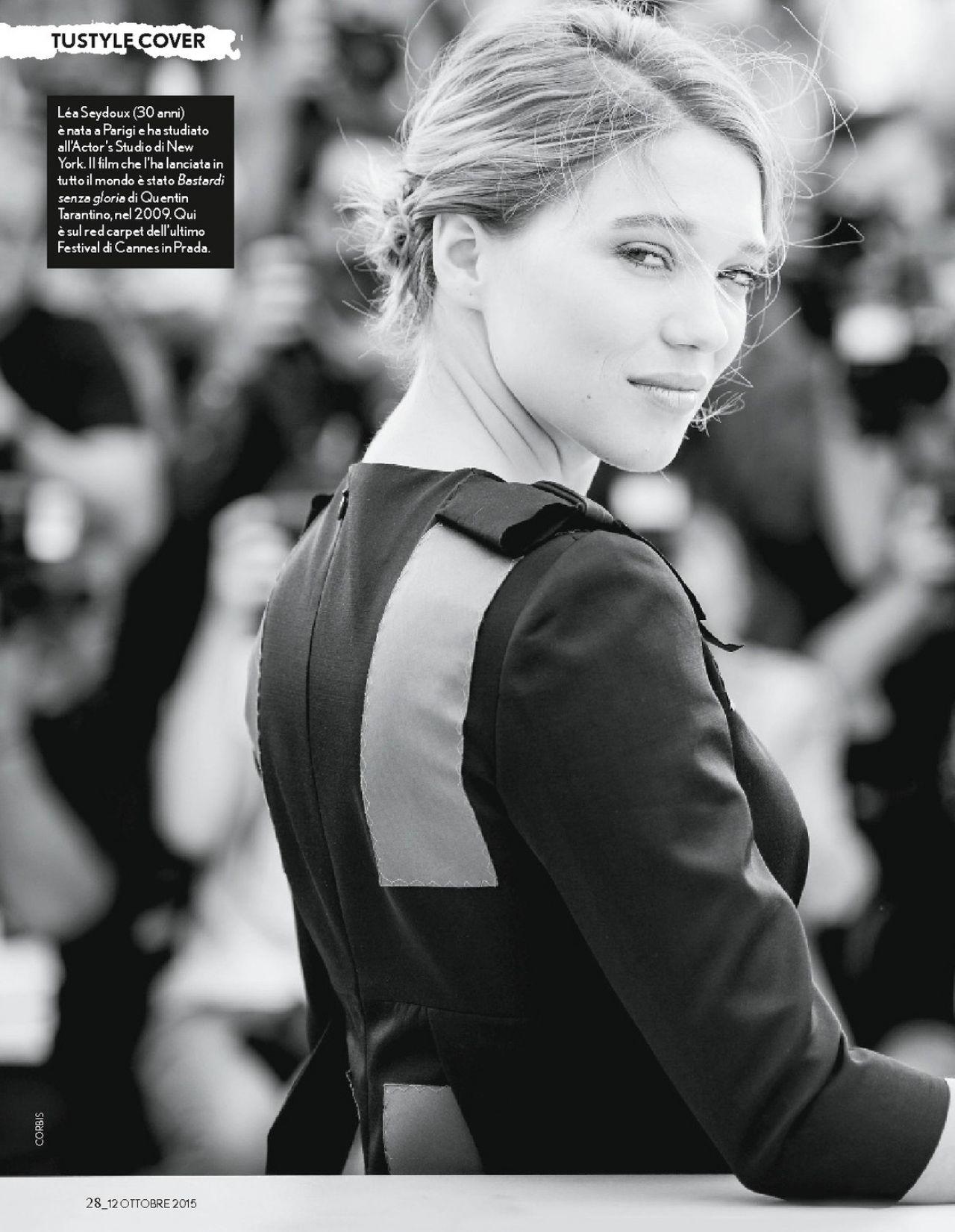 Tustyle Magazine November 2015 Issue: Lea Seydoux Latest Photos