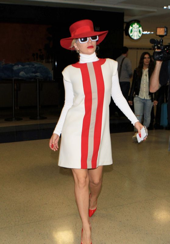 Lady Gaga Fashhion - LAX airport in Los Angeles, October 2015