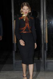 Lea Séydoux - Leaving Miu Miu Fashion Show in Paris, October 2015