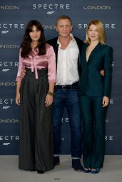 Lea Seydoux, Monica Bellucci & Naomie Harris - Britain Spectre Photocall in Corinthia Hotel in London