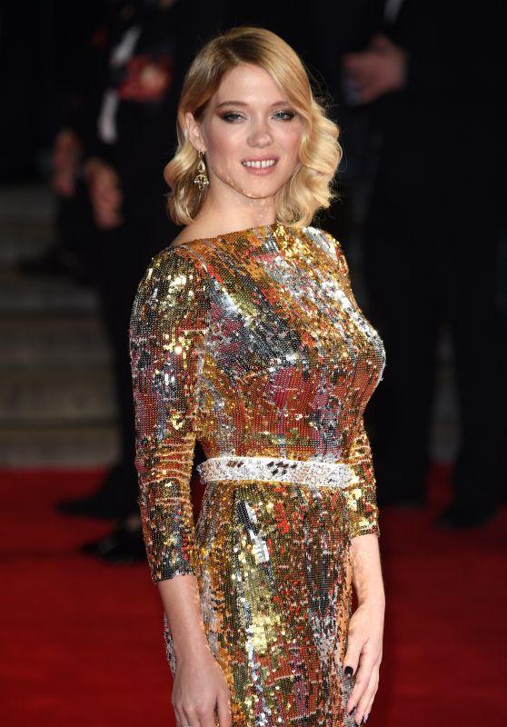 Lea Seydoux on Red Carpet – 'Spectre' World Premiere in London