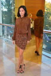 Leigh Lezark - Anthony Vaccarello Fashion Show in Paris, September 2015