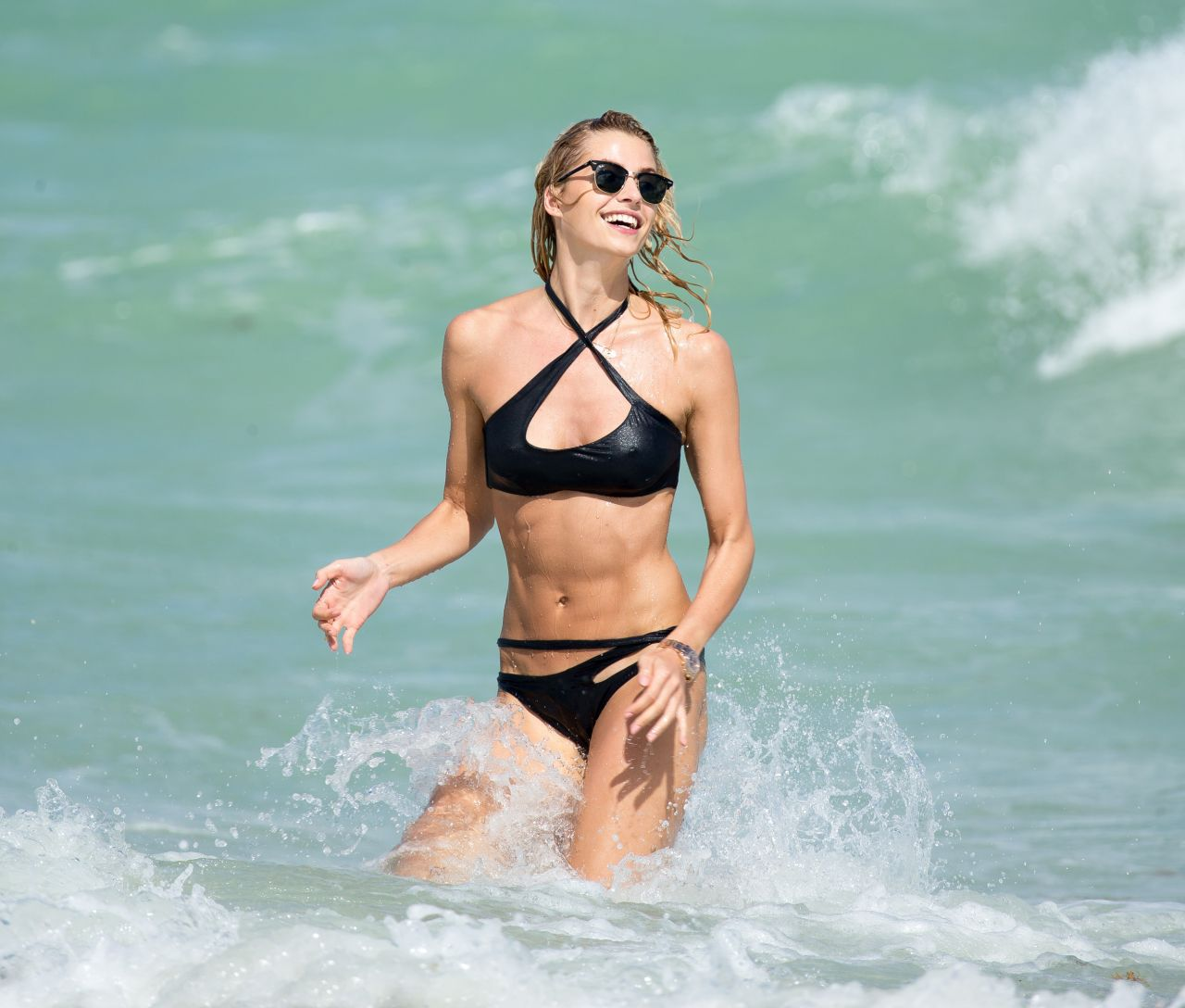 Lena Gercke In A Bikini At The Beach In Miami October 2015