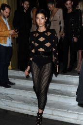 Lily Aldridge - Leaving Costes Bar in Paris, October 2015
