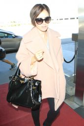 Lily Collins Airport Style - at LAX in Los Angeles, October 2015