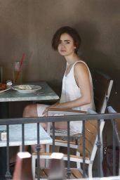 Lily Collins at Hugo